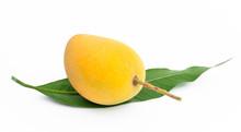Yellow Mango On White Backgrou...