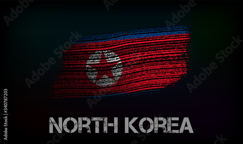 Flag of the North Korea Canvas Print