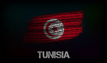 Flag Of The Tunisia. Vector Illustration In Grunge Style With Cracks And Abrasions. Good Image For Print