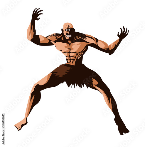 Photo greek mythology monster giant titan cyclops
