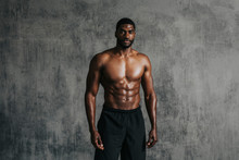 Strong And Fit Man Portrait