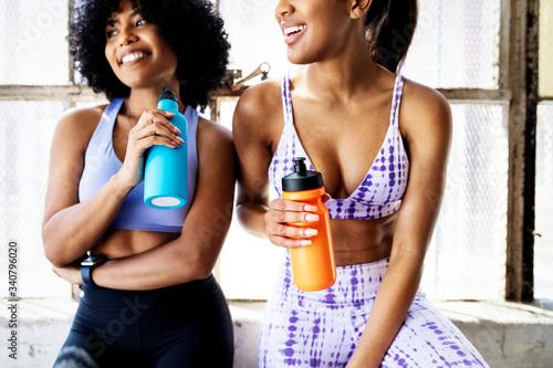 Fototapeta Rehydrating at the gym obraz na płótnie