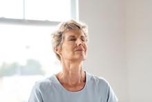 Senior Lady Doing Yoga