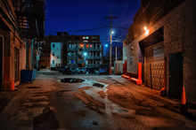 Dark And Eerie Urban City Alle...