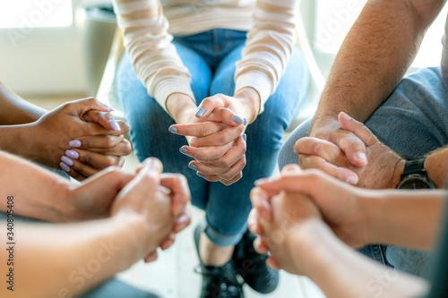 Prayer group session Canvas-taulu