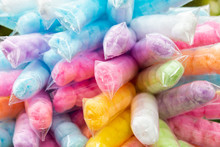 Colourful Cotton Candy In Plas...