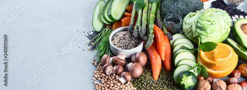 Stampa su Tela Plant based diet ingredients