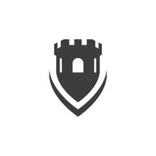 Castle Vector Illustration Icon