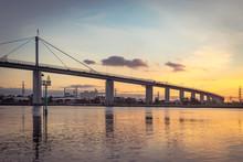 West Gate Bridge At Sunset In Melbourne, Australia