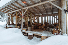 Firewood Strange Shed In The S...