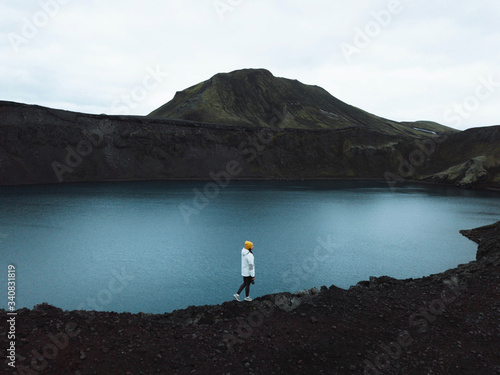 plakat Traveler in Iceland