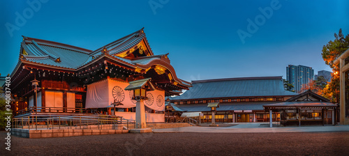 Fotografia Yasukuni shrine is a Shinto shrine in Tokyo founded by Emperor Meiji and commemo