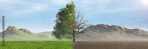 Slika na platnu climate change, global warming effects the future