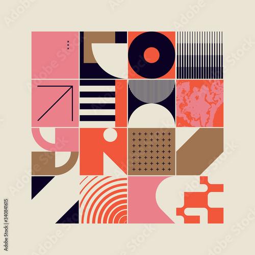 Fotografía New Retro Pattern Artwork Design Composition
