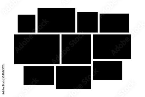 Fototapeta photo frame collage background picture template vector illustration