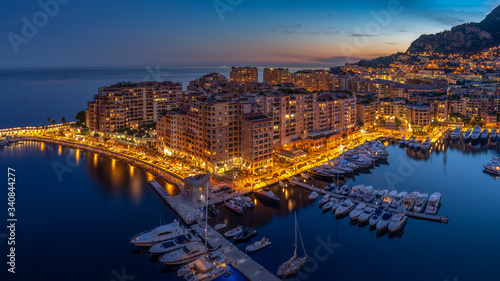 Precious apartments and harbor with luxury yachts in the bay, Monte Carlo, Monaco, Europe