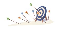 Cartoon Arrows Missed Hitting ...