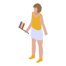 Parade Lgbt Icon. Isometric Of Parade Lgbt Vector Icon For Web Design Isolated On White Background