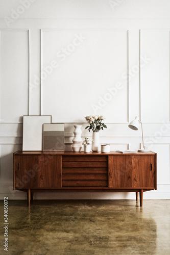 Fototapeta Mid century modern living room obraz