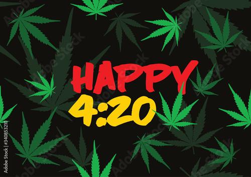 Obraz na plátně Happy 420 Smoking Weed Day