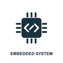 Embedded System Icon From Digitalization Collection. Simple Line Embedded System Icon For Templates, Web Design And Infographics