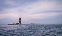 Whaleback Lighthouse Off The Coast Of Portsmouth Maine, USA