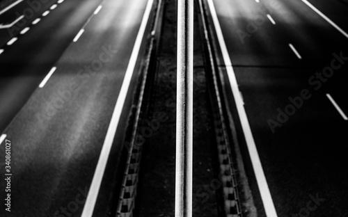 autostrada nocą Canvas Print