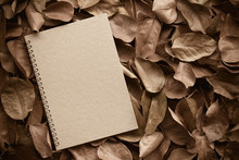 Abstract Notebook With Autumn ...