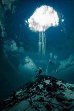 Scuba Diving In The Yucatan Ce...
