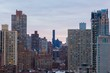Amazing view of the New-York cityscape on a beautiful sunrise background