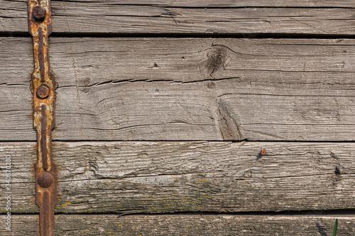 Obraz Vintage background from old wooden boards  - fototapety do salonu
