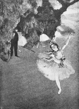 The Ballerina On Stage By The French Painter Edgar Degas In The Old Book The History Of Painting, By R. Muter, 1887, St. Petersburg