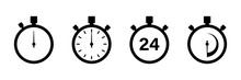 Timers Icon On White Backgroun...