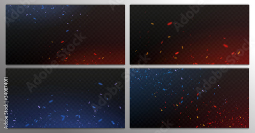 Photographie Fire sparks vector flying up