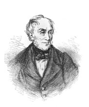 The William Wordsworth's Portrait, An English Romantic Poet In The Old Book The Great Authors, By W. Dalgleish, 1891, London