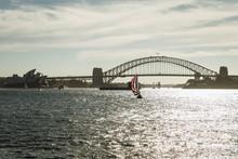 Sydney Harbour Bridge With Boat