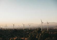 Wind Turbines In The Palm Spri...