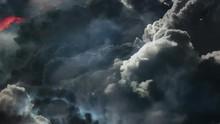 Dark Clouds With Lightning Str...