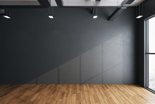 Imalistic Hall Interior With Empty Gray Wall