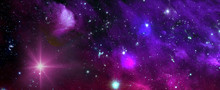 Space Background With Nebula A...
