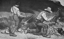 Masons By Gustave Courbet A Fr...