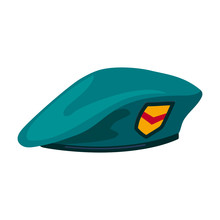 Military Beret Vector Icon.Car...