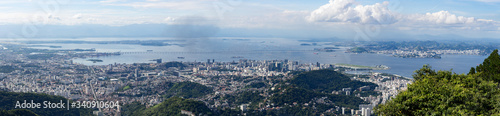 Photo Large panoramic view of Rio de Janeiro from the hills