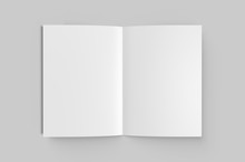 Blank Half Fold Brochure Templ...