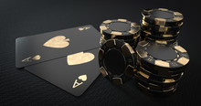 Casino Chips And Aces, Modern ...