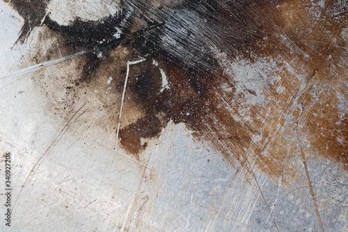 Fototapeta Fragment starej zarysowanej blachy. obraz