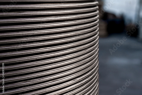Close up metal texture wire background horizontal Canvas