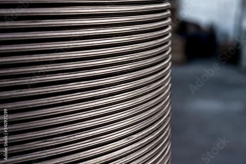 Obraz na plátně Close up metal texture wire background horizontal