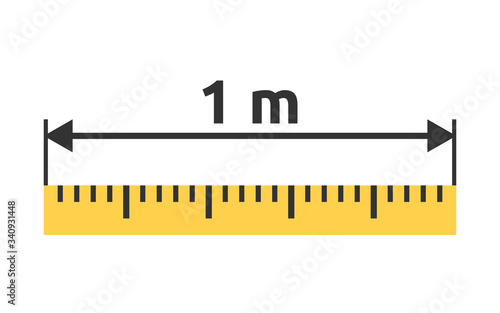 Tablou Canvas Yellow ruler, 1 m