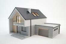 Modern House - 3D Model Isolat...